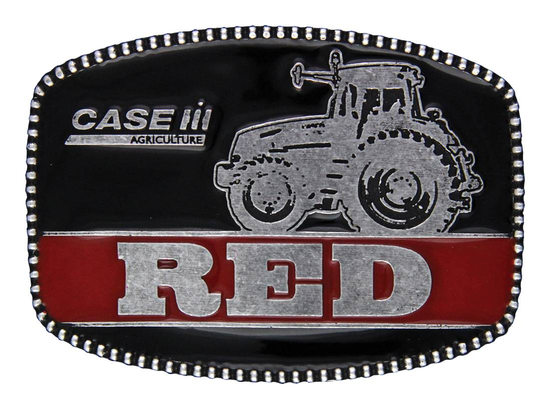 Montana Silversmiths Case IH RED Attitude Belt Buckle