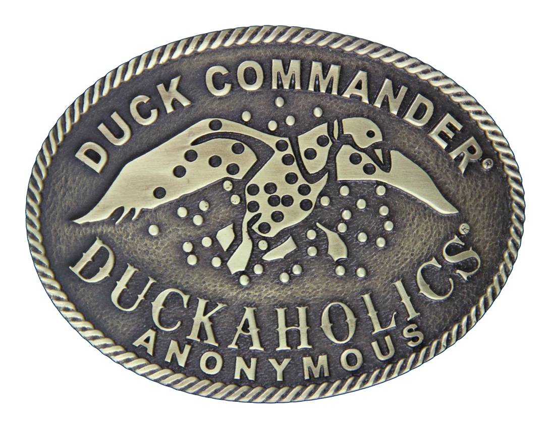 Montana Silversmiths Duck Commander Duckaholics Anonymous Oval Heritage Attitude Buckle