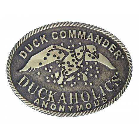 Montana Silversmiths Duck Commander Duckaholics Anonymous Oval Buckle