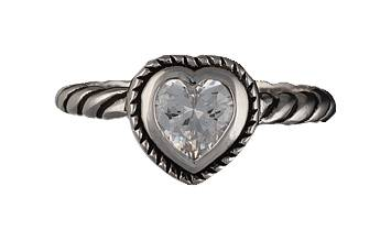 Montana Silversmiths Heart on a String Solitaire Ring