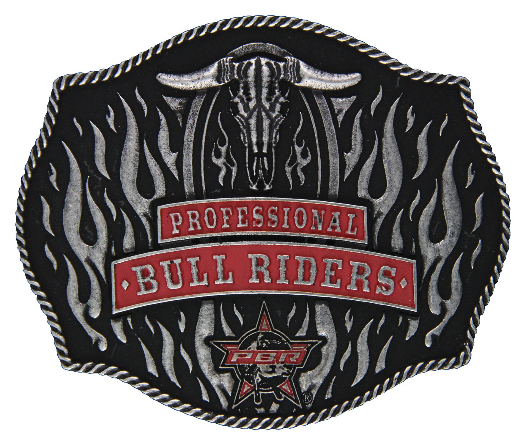 Montana Silversmiths PBR So Hot It's on Fire Buckle