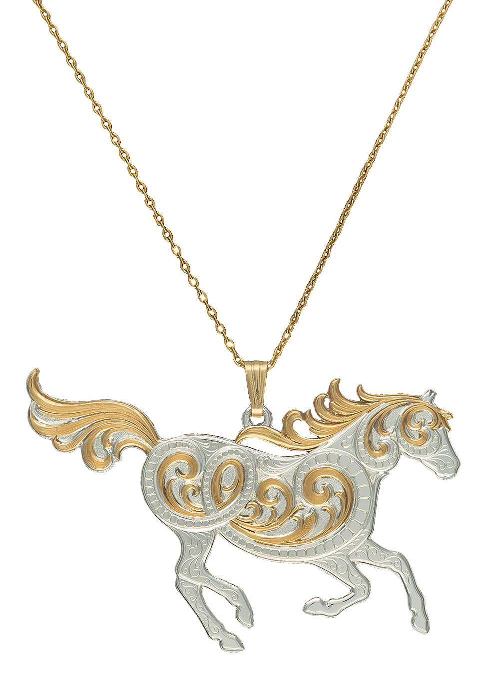 Montana Silversmiths Ride On, Cowgirl! Pendant Necklace