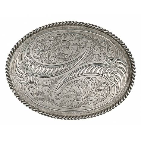 Montana Silversmiths Special Edition Etched Horns Belt Buckle