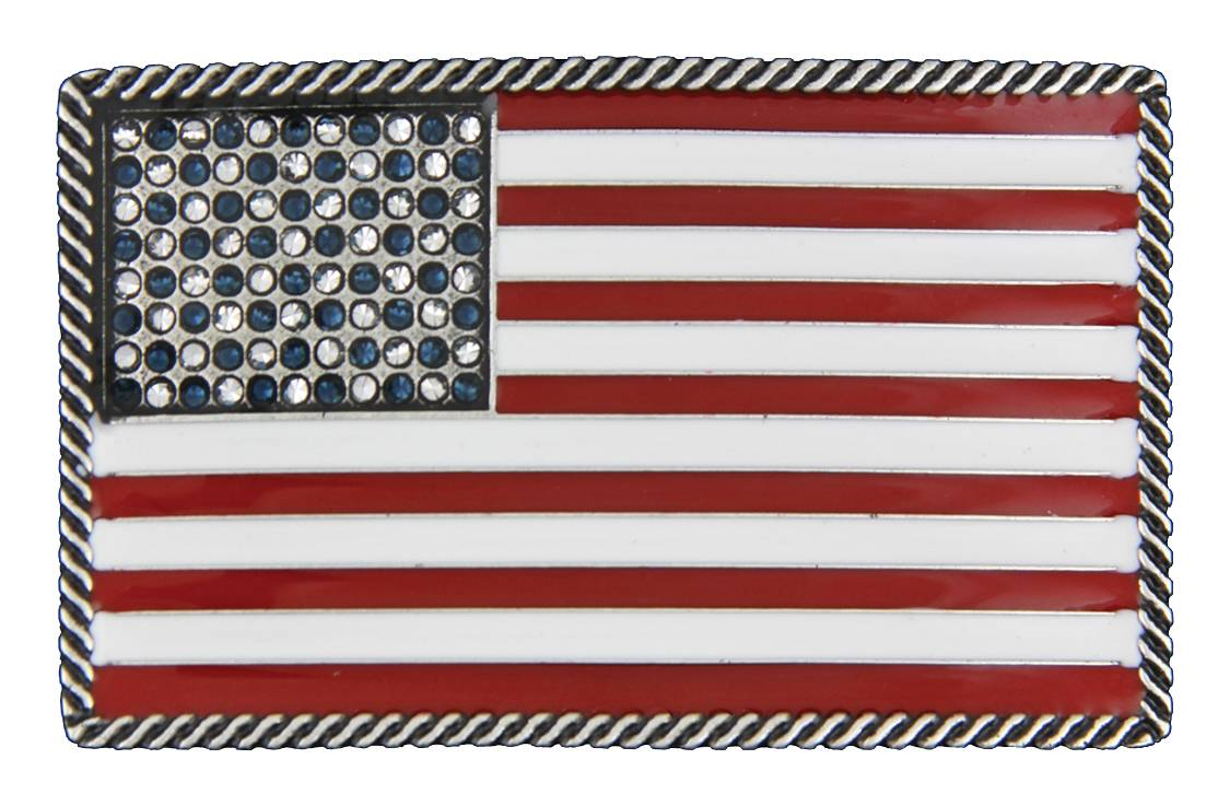 Montana Silversmiths Stars and Stripes Attitude Belt Buckle