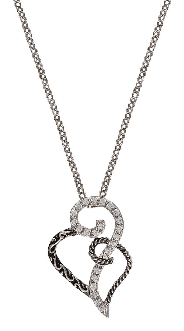Montana Silversmiths Woven Hearts Necklace