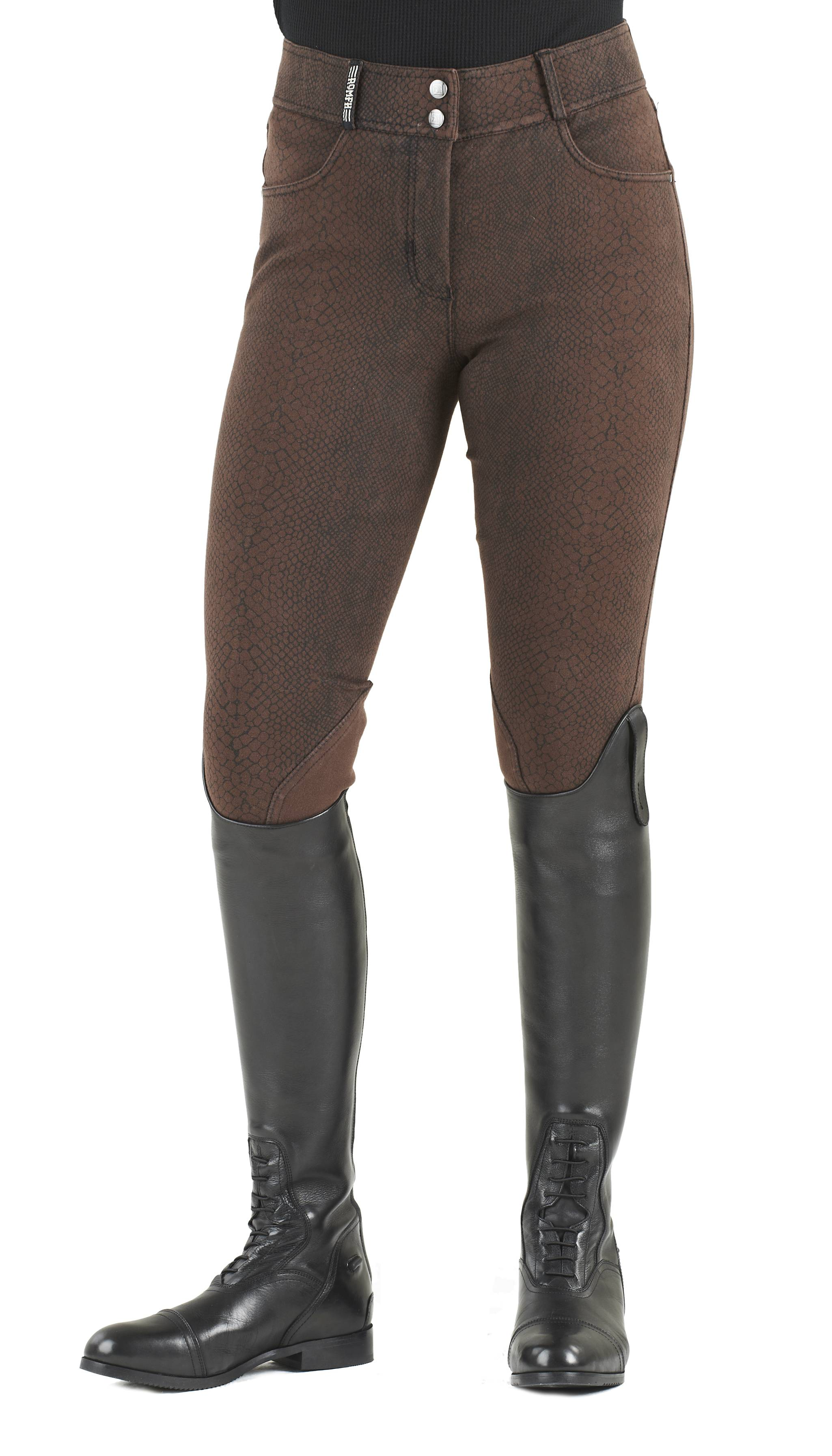 breeches ROMFH International Snakeskin Euro Seat Breech