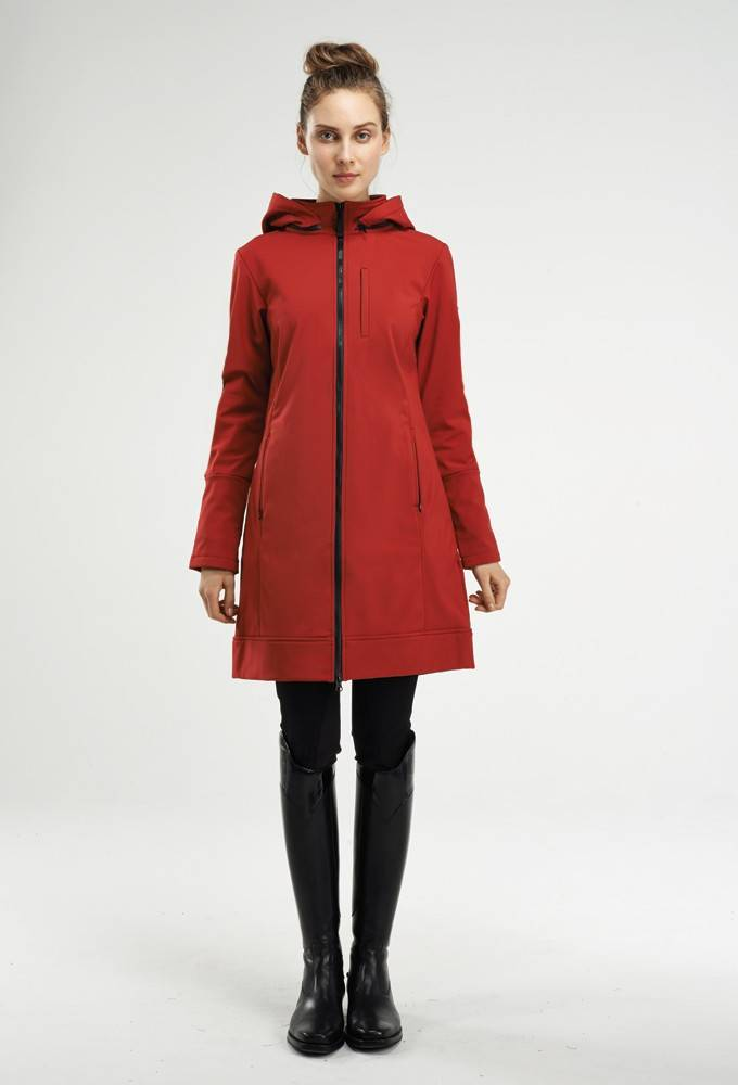 Asmar Ladies All Weather Rider Coat - Scarlet