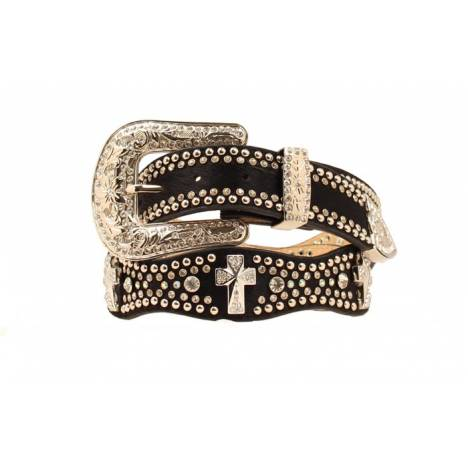 Nocona Womens Rhinestone Cross Concho Belt