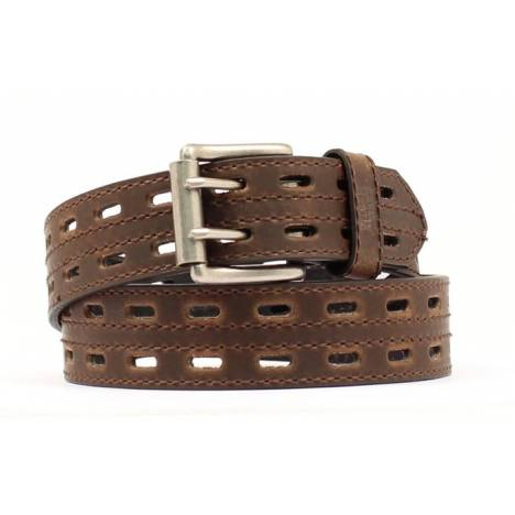 Nocona Hired Hand Double Hole Stitched Belt