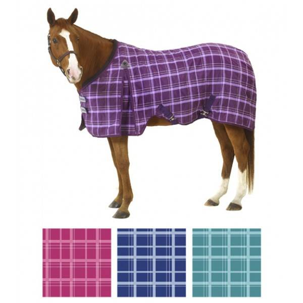 Equiessentials EZ-Care Light Plaid Stable Sheet
