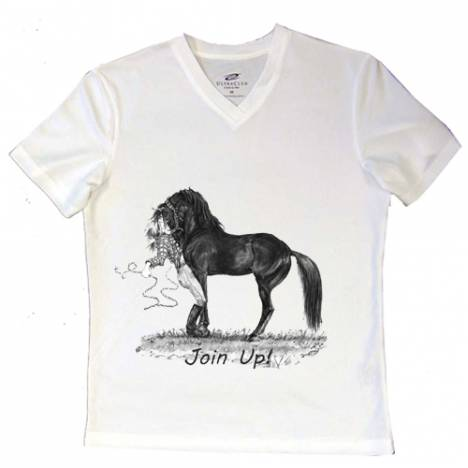 Intrepid Join Up! V-Neck Ladies Tee Shirt