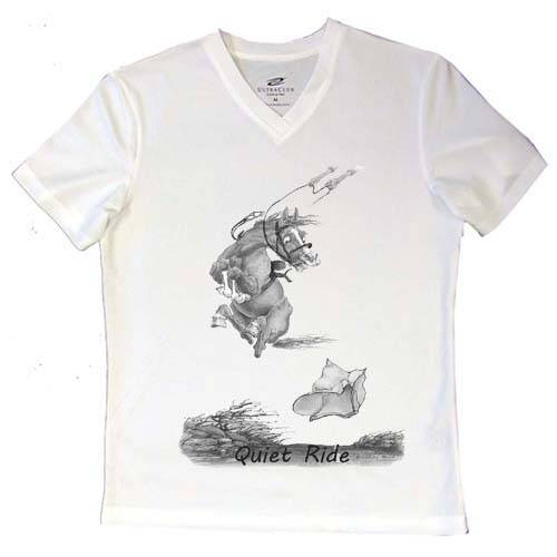 Intrepid A Quiet Ride V-Neck Ladies Tee Shirt