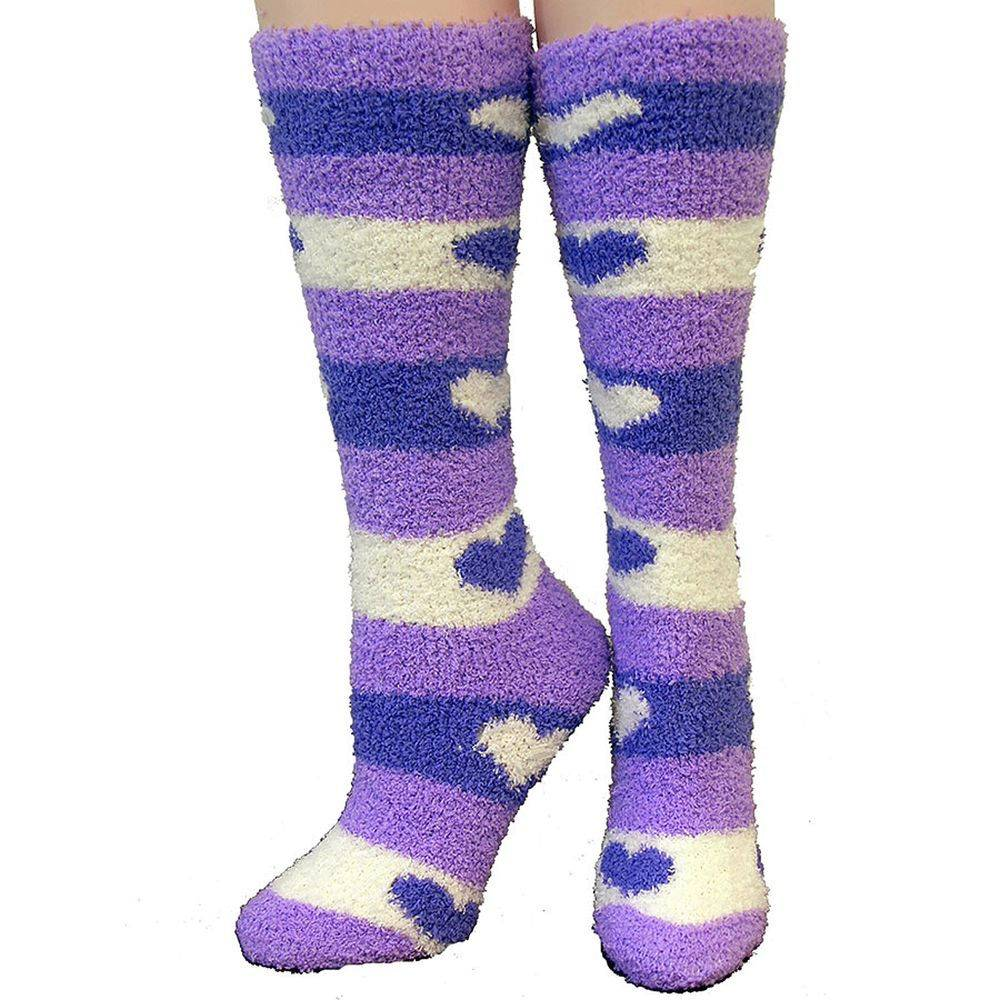 Ladies Cozzie Soft Hearts Socks