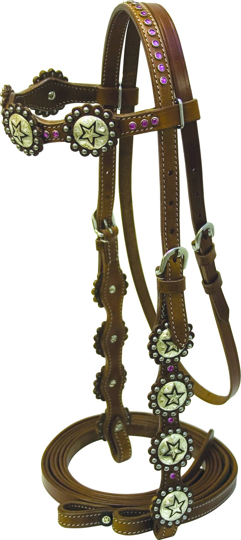 Cowboy Pro Bridle Scalloped with Reins
