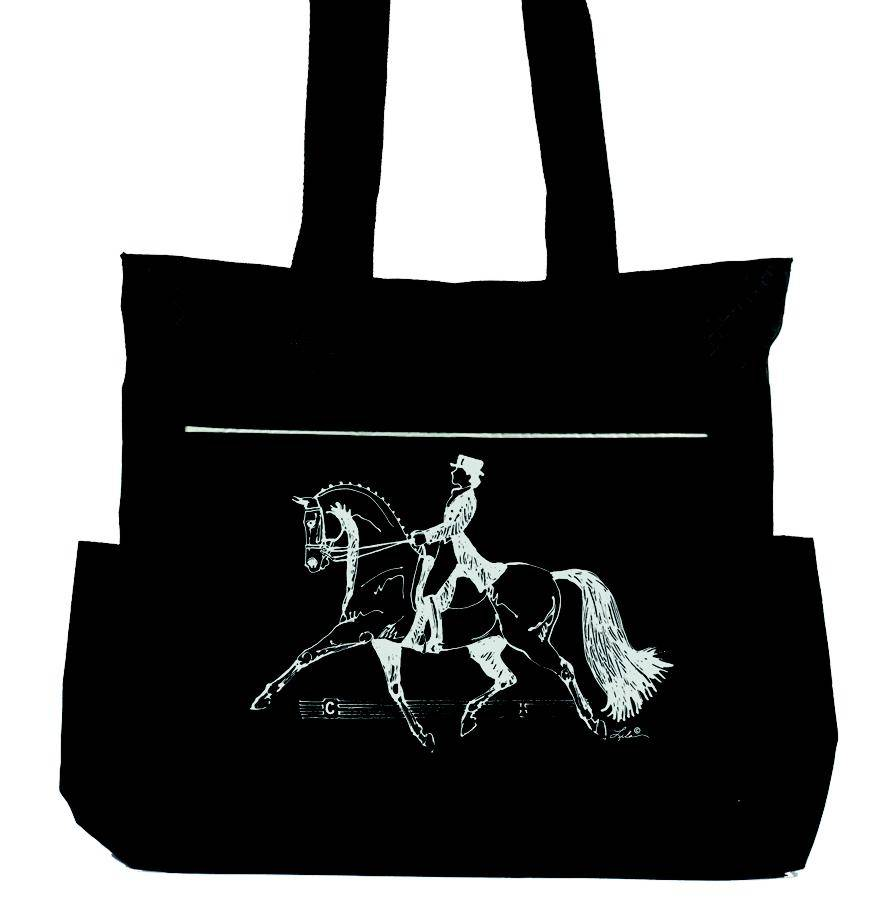 Lila Blakeslee Tote Bag with Dressage Horse