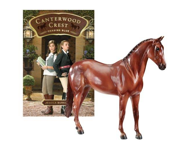Breyer Canterwood Crest - Chasing Blue with Aristocrat