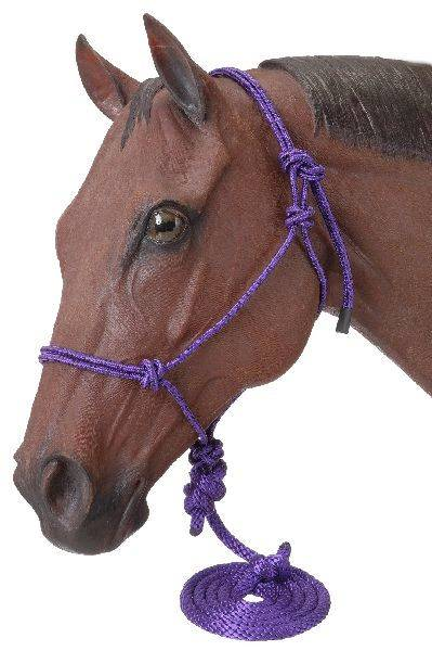 Tough-1 Miniature Poly Rope Halters with Leads - 6 Pack