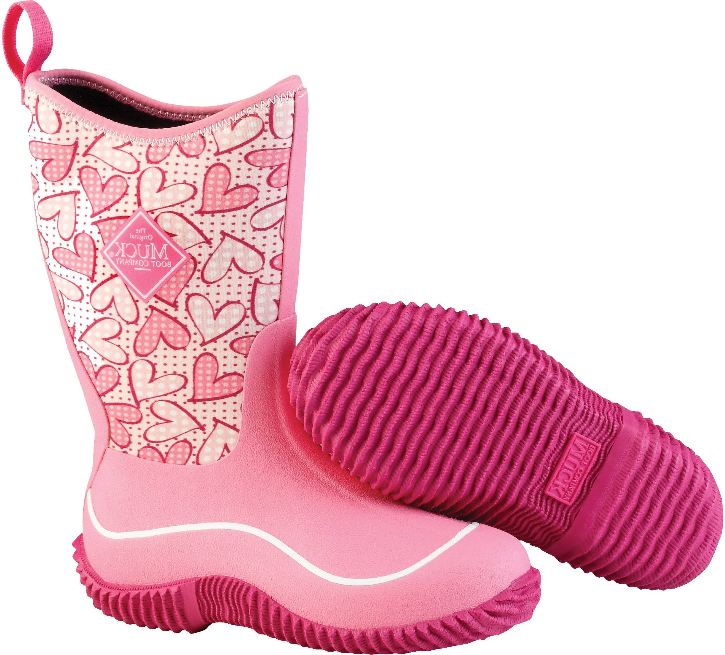 Muck Boots Youth Hale - Pink Hearts