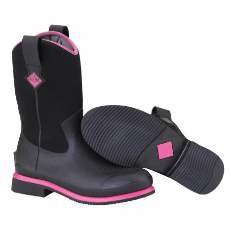 Muck Boots Ladies Ryder - Black Hot Pink