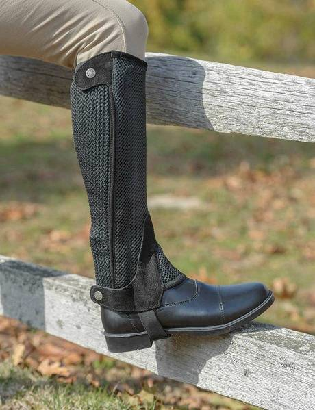 Shires Adult Mesh Half Chaps