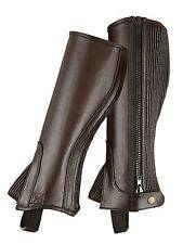 Shires Kids Leather Half Chaps