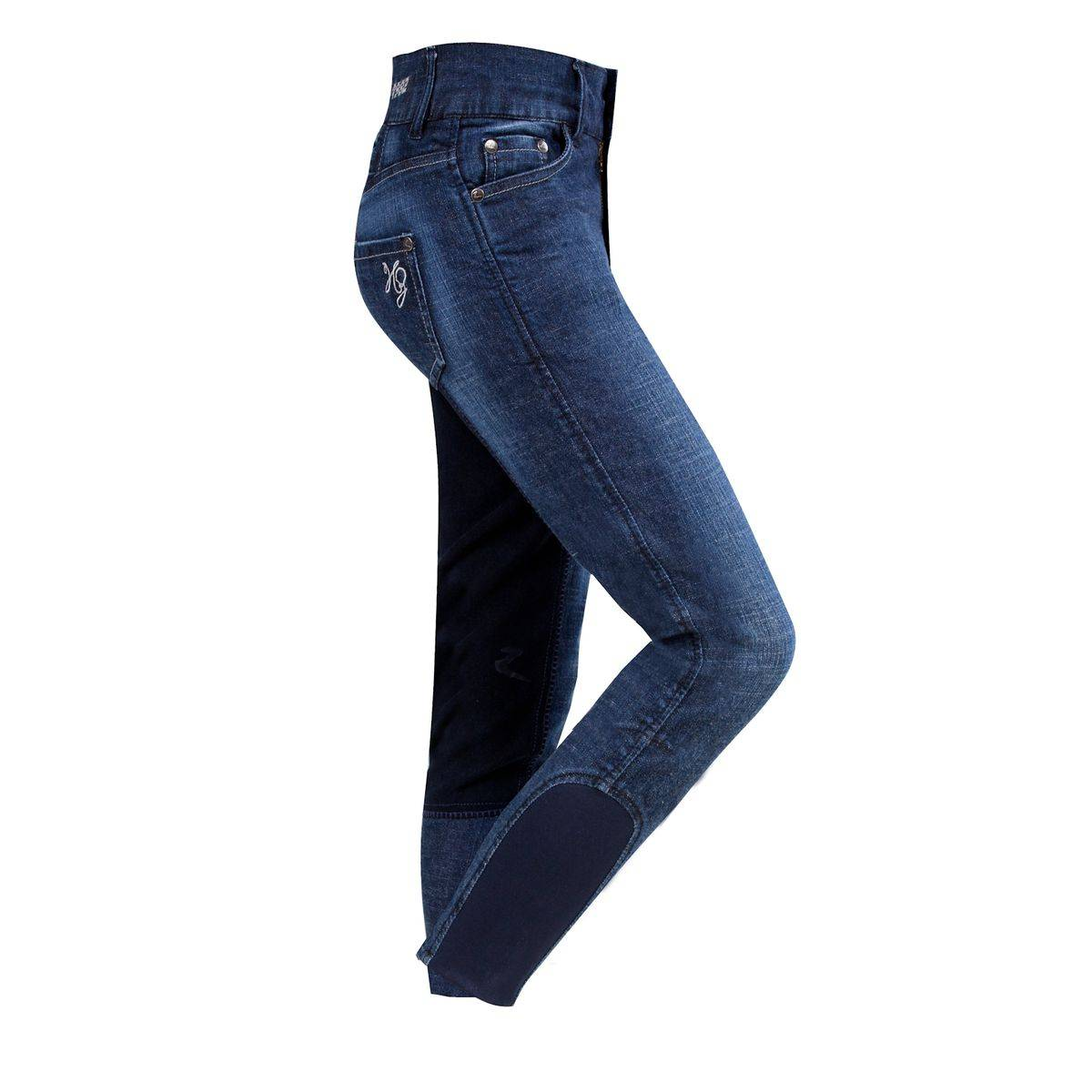 Horze Carla Kids Denim Full Seat Breeches