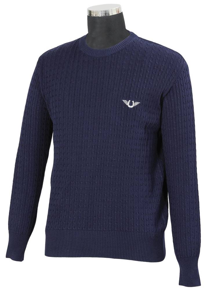 TuffRider Men's Classic Cable Knit Sweater