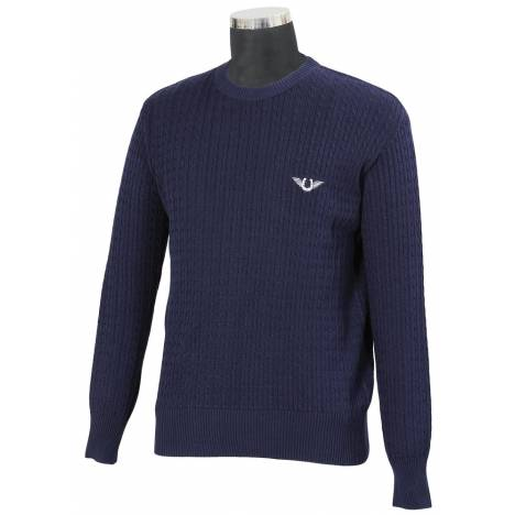 TuffRider Mens Classic Cable Knit Sweater