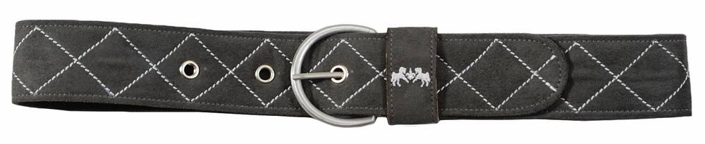 Equine Couture Ladies Diamond Quilted Suede Belt