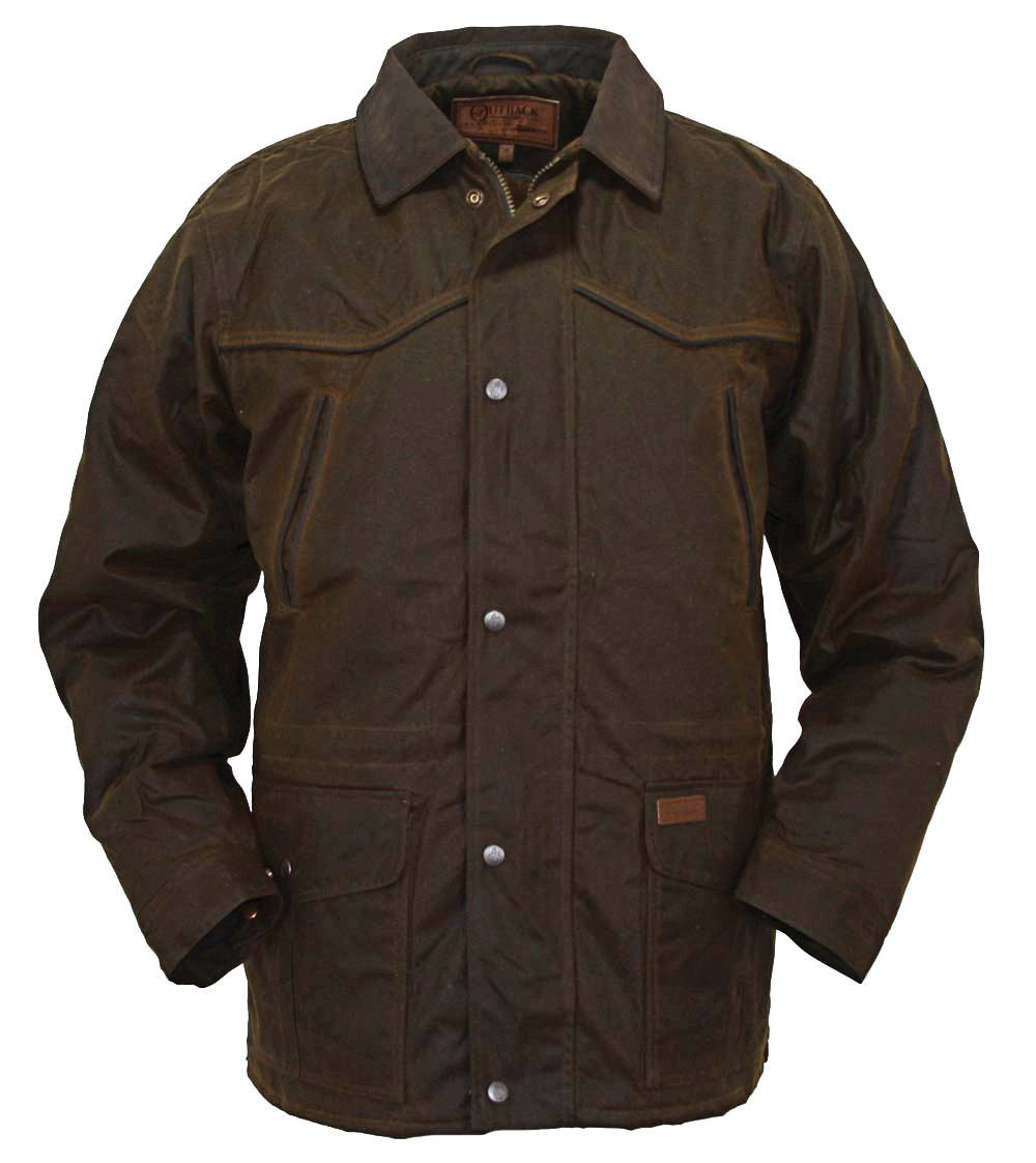 Outback Trading Men's Pathfinder Oilskin Jacket