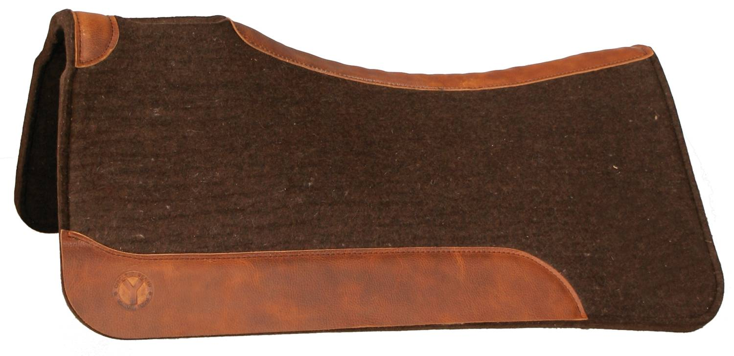 OPEN BOX - Circle Y Standard Western Square Wool Felt Pad - 3/4'' x 32'' - Chocolate
