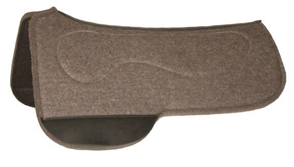 Circle Y Drop Rig Full Tacky-Tack Bar Liner Wool Felt Pad - Grey