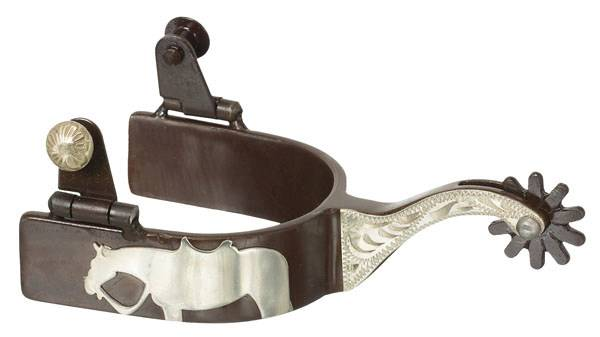 Tough 1 Ladies Antique Brown Western Horse Spurs