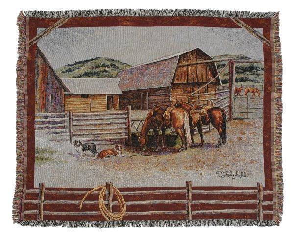 Gift Corral Ranch Life Throw