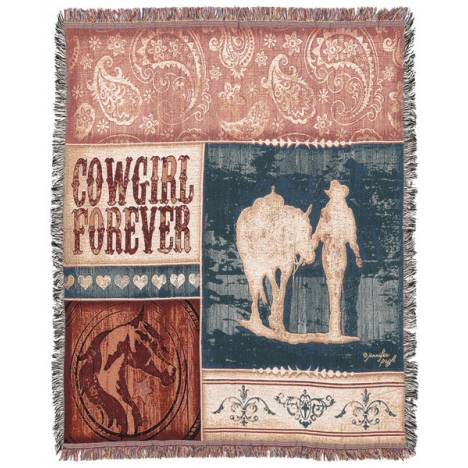 Gift Corral Cowgirl Forever Throw
