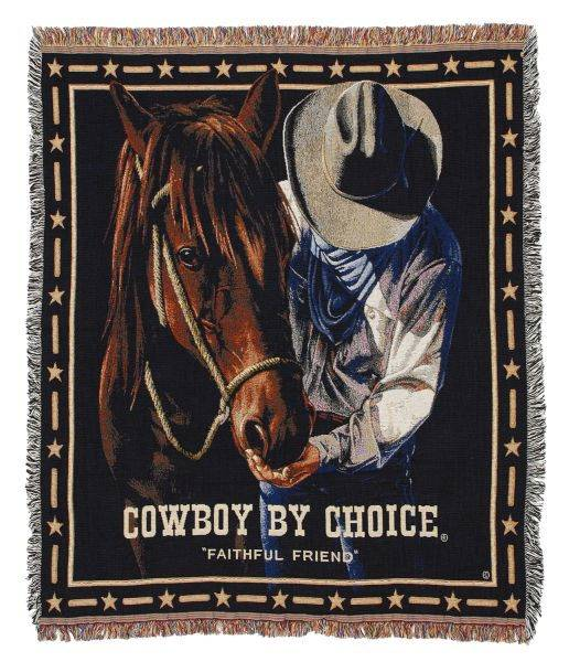 Gift Corral Cowgirl By Choice - Faithful Friend Throw