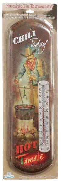 Gift Corral Chili Today Cowboy Thermometer