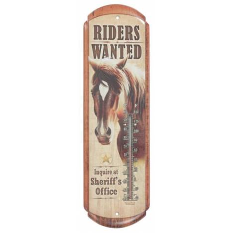Gift Corral Riders Wanted Thermometer