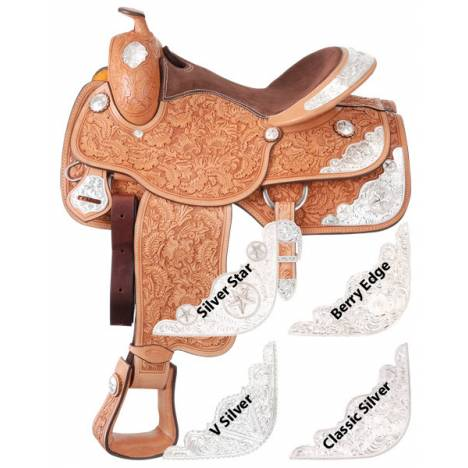 Silver Royal Premium Grandview Silver Show V Silver Trim Saddle Package