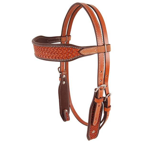 Cashel Basket Stamped Browband Headstall