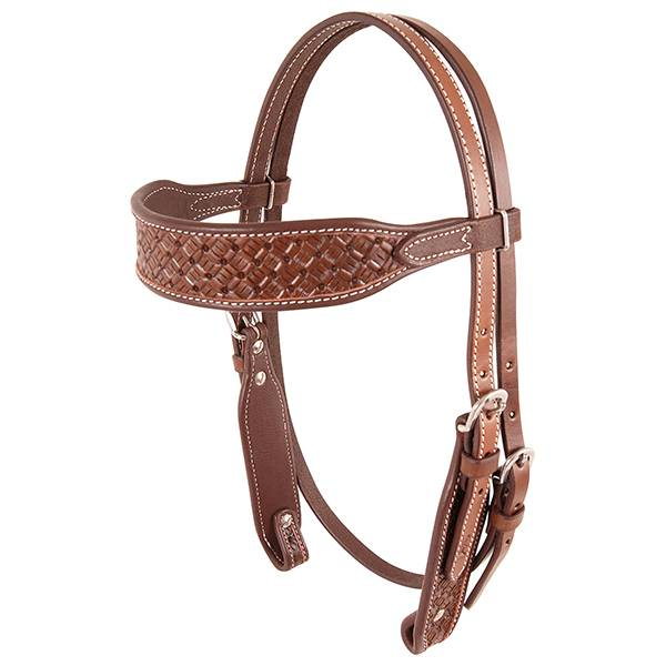 Cashel Weave Stamped Browband Headstall