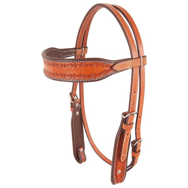 Cashel Barbwire Stamped Browband Headstall