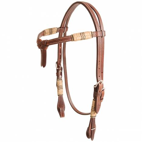 Cashel Tiefront Rawhide Trimmed Browband Headstall