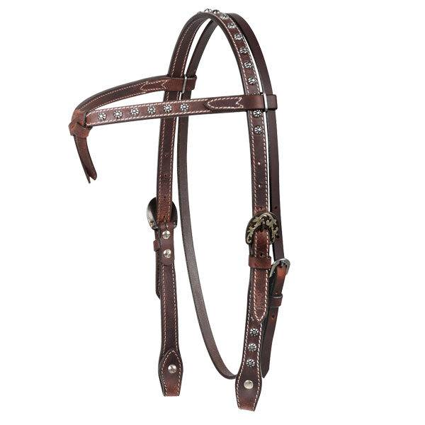 Cashel Antique Dot Browband Headstall