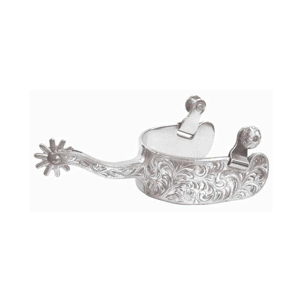 Abetta Mens Silver Equitation Spurs
