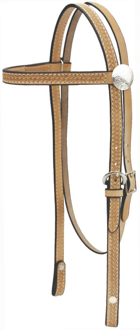 Billy Cook Saddlery Browband Basket Headstall