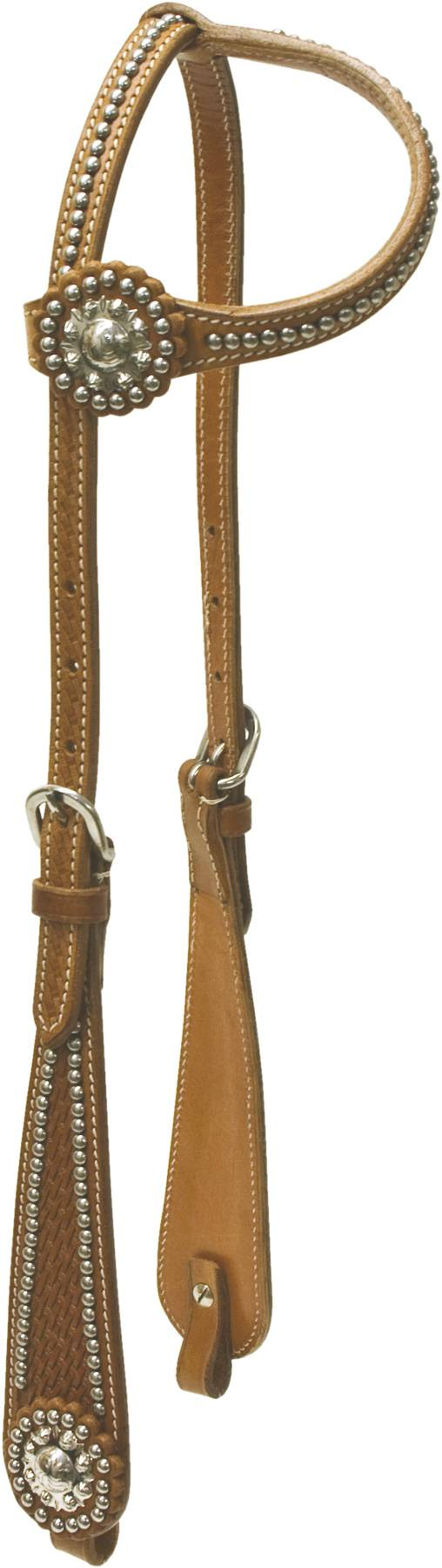 Cowboy Pro One Ear Flared Cheek Headstall