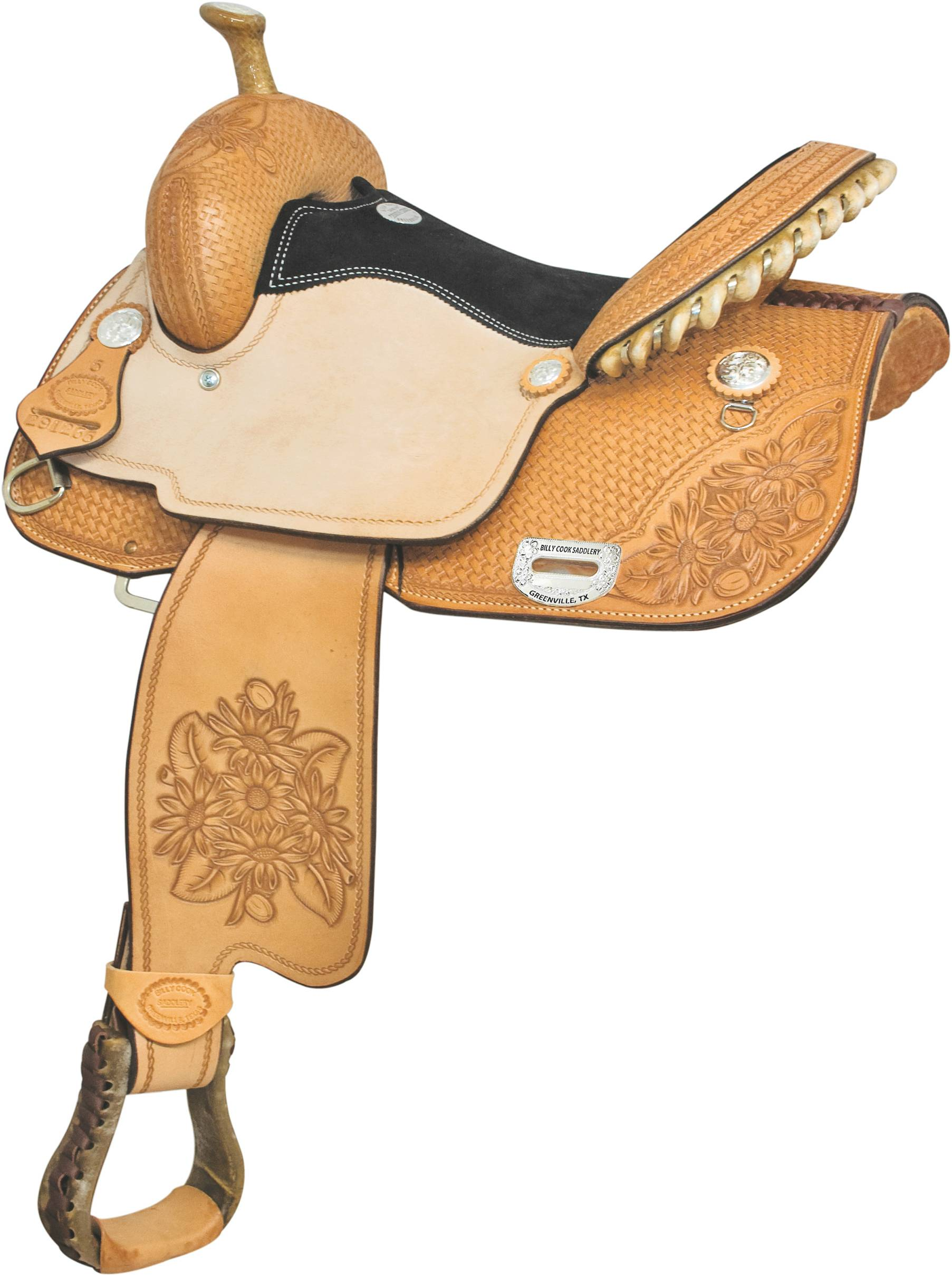 Billy Cook Saddlery Connie Combs Sunflower Barrel Saddle