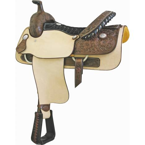 Billy Cook Saddlery Justin Roper Roughout Roper Saddle