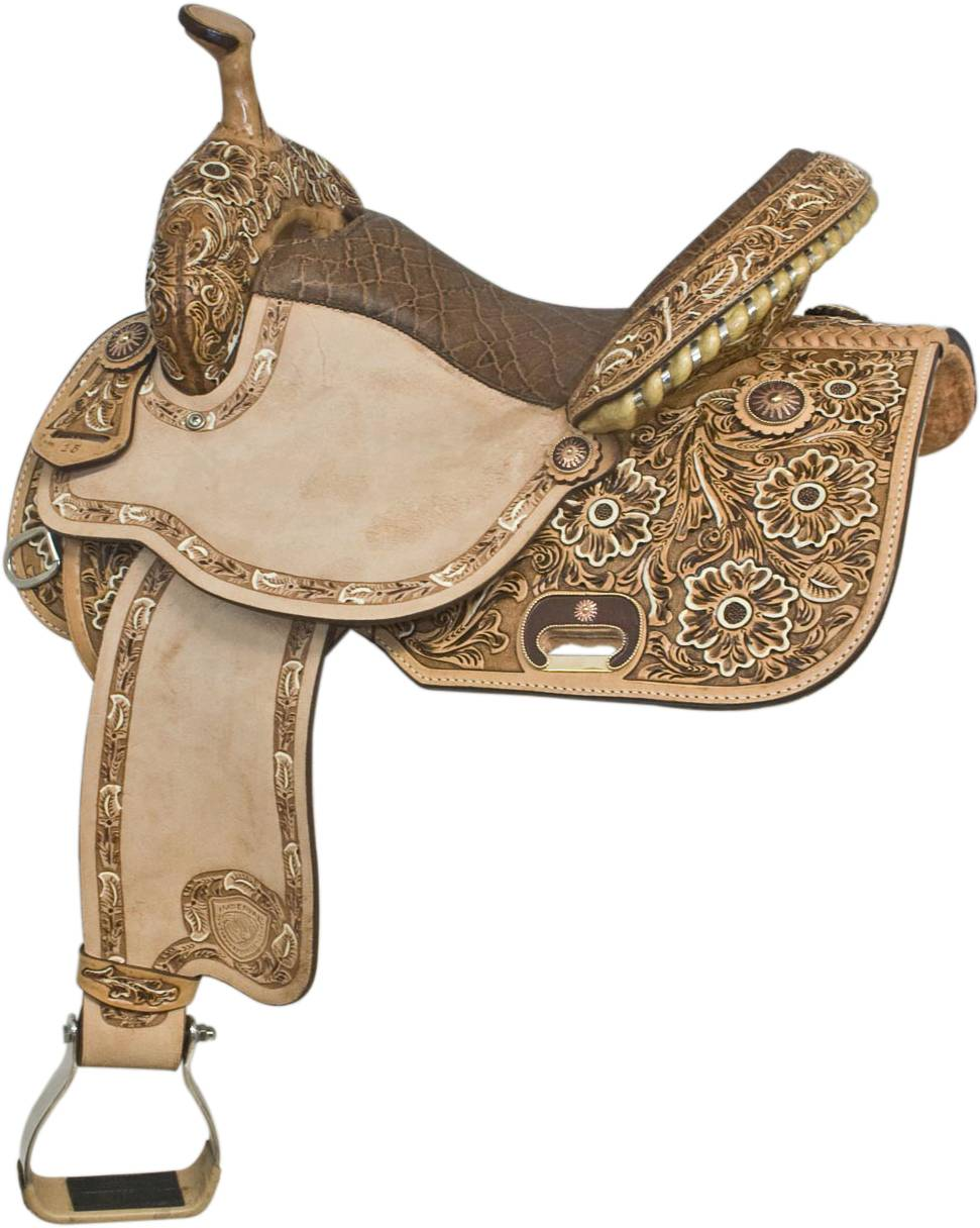 Tex Tan Floral Barrel Saddle